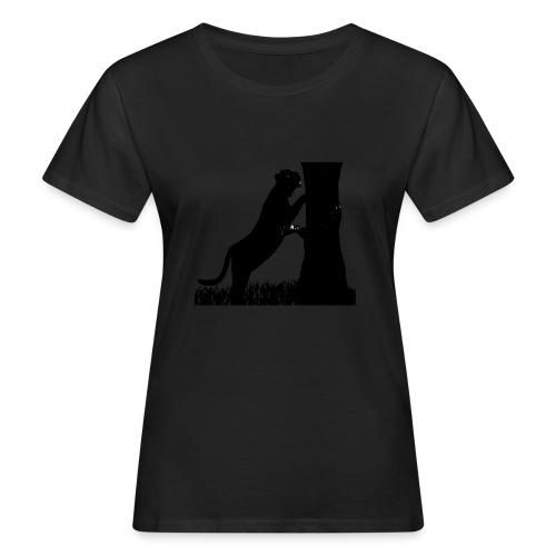 Tiger On A Tree - T-shirt ecologica da donna