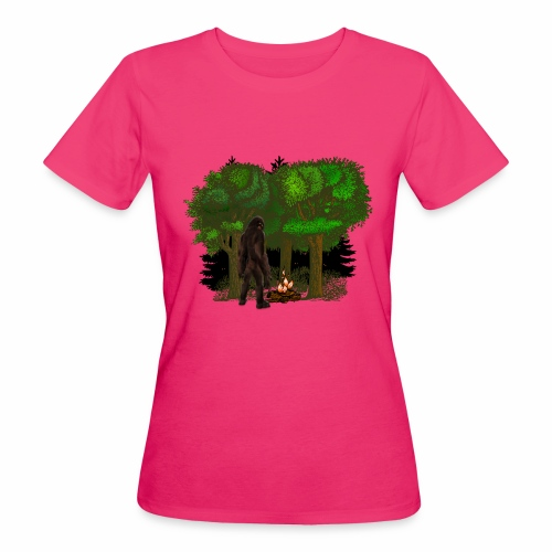 Bigfoot Campfire Forest - Women's Organic T-Shirt
