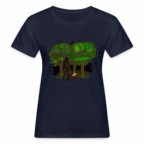 Bigfoot Campfire Forest - Women's Organic T-Shirt