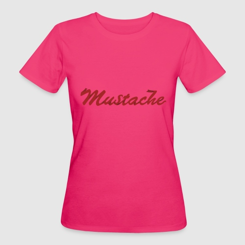 Red Mustache Lettering - Women's Organic T-Shirt