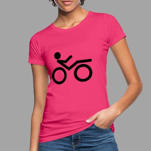 Recumbent bike black 2 - Naisten luonnonmukainen t-paita