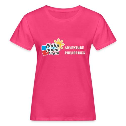 Philippinen-Blog Logo english orange/weiss - Frauen Bio-T-Shirt
