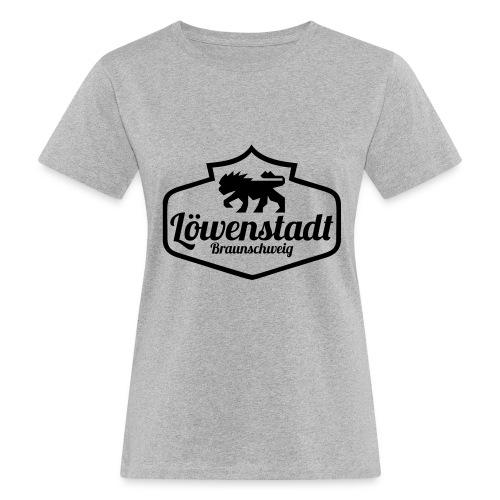 Löwenstadt Design 1 schwarz - Frauen Bio-T-Shirt