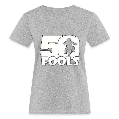 50FOOLSLOGOSPREADSHIRT png - Vrouwen Bio-T-shirt