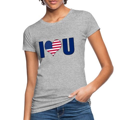 I love u USA - Women's Organic T-Shirt