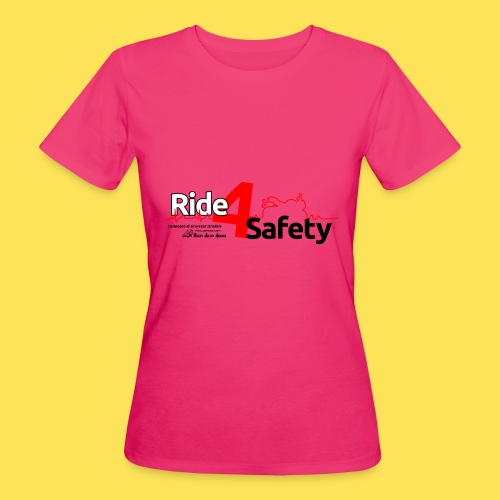 Ride4Safety - T-shirt ecologica da donna