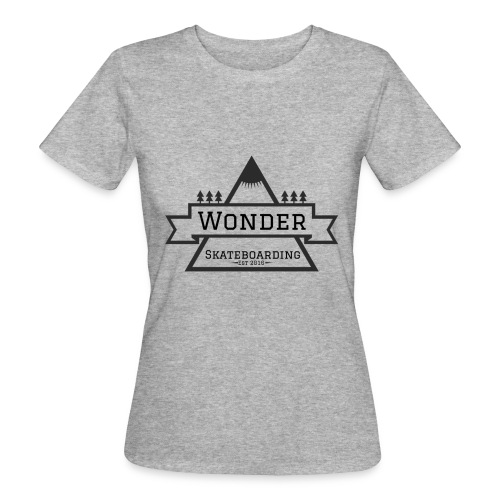 Wonder hoodie no hat - Mountain logo - Organic damer