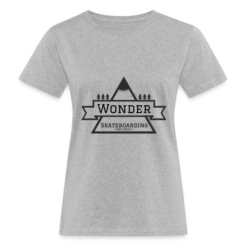 Wonder hoodie no hat - Mountain logo - Organic damer