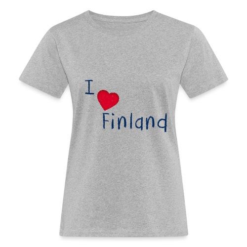 I Love Finland - Naisten luonnonmukainen t-paita