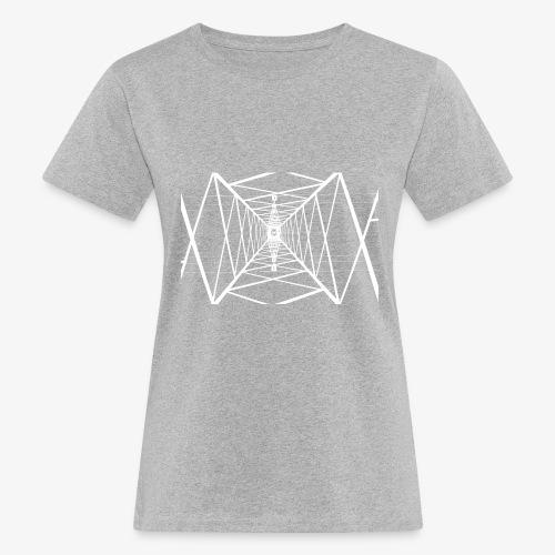 Quermast V2 Weiß - Frauen Bio-T-Shirt