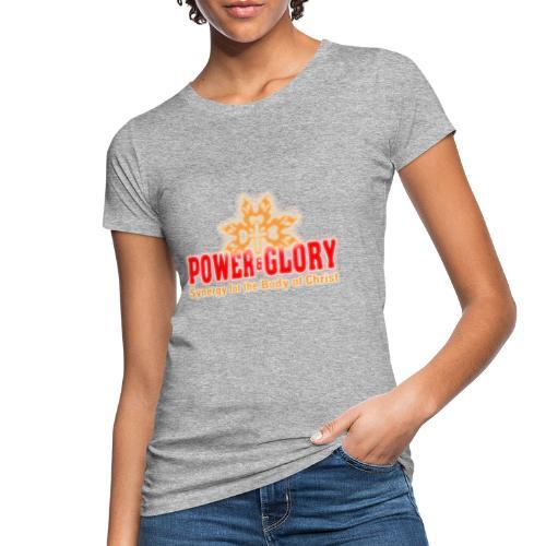 Power and Glory Logo glow red and orange - Women's Organic T-Shirt