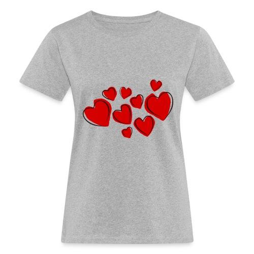 hearts herzen - Frauen Bio-T-Shirt