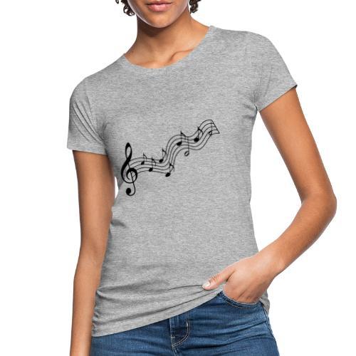 Musiknoten - Frauen Bio-T-Shirt