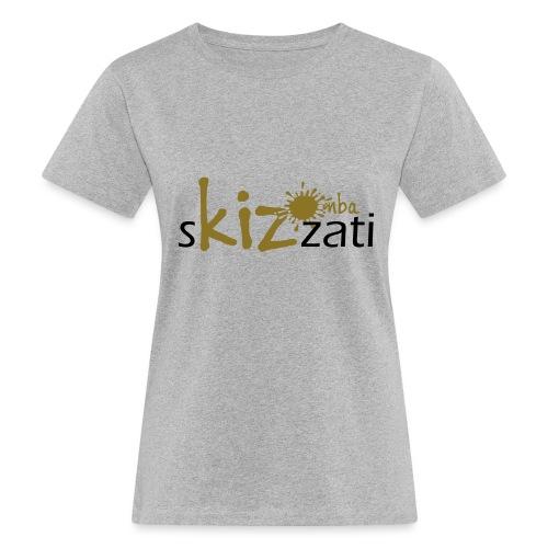 Beanie in jersey con logo sKizzati Kizomba - Verde - T-shirt ecologica da donna