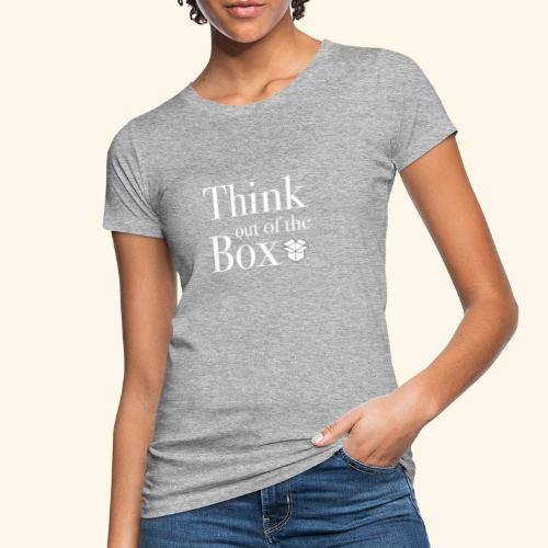 Designed MIndset Thinking Out Of The Box - T-shirt ecologica da donna