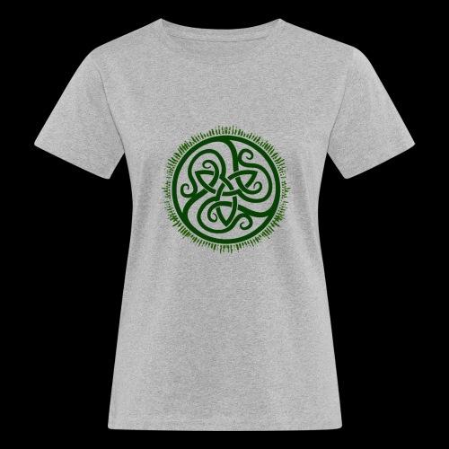 Green Celtic Triknot - Women's Organic T-Shirt