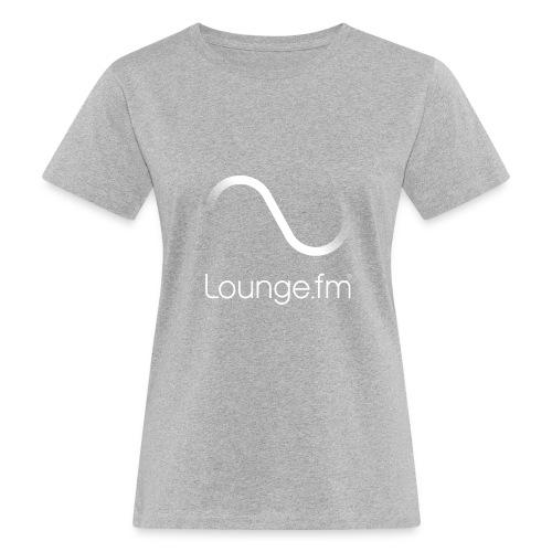 loungefm logo weiss - Frauen Bio-T-Shirt