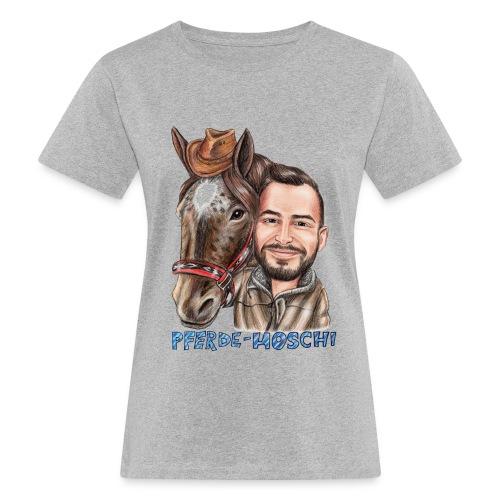 Pferde-Hoschi Kollektion hinten - Frauen Bio-T-Shirt