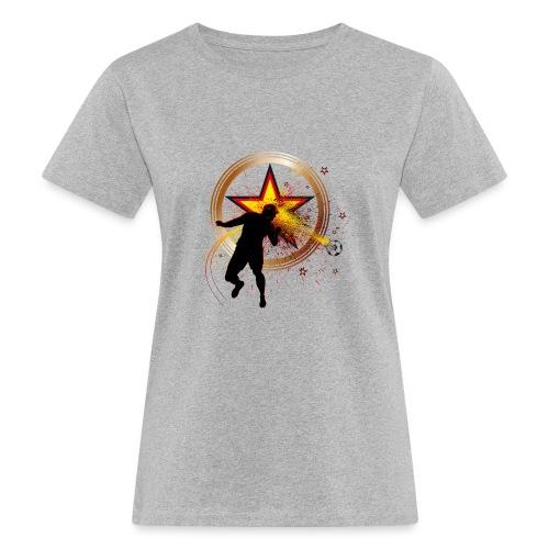 Fussball Fanshirt Deutschland - Kopfball Treffer - Frauen Bio-T-Shirt