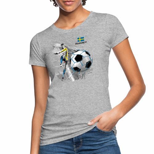 FP22F 16 SWEDEN FOOTBALL - Naisten luonnonmukainen t-paita