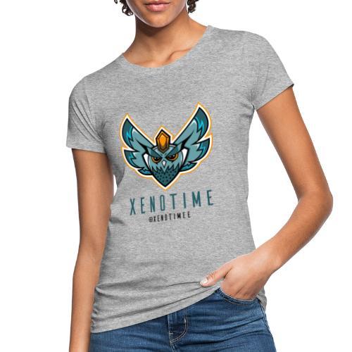 Logo + Texte + Tag + Bleu - T-shirt bio Femme