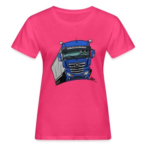 0807 M truck blauw trailer - Vrouwen Bio-T-shirt
