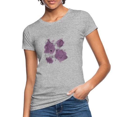 Violet splash chinchilla - Naisten luonnonmukainen t-paita