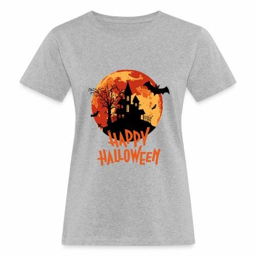 Bloodmoon Haunted House Halloween Design - Frauen Bio-T-Shirt