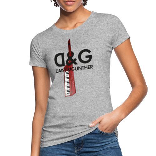 Met keytar-logo - Vrouwen Bio-T-shirt
