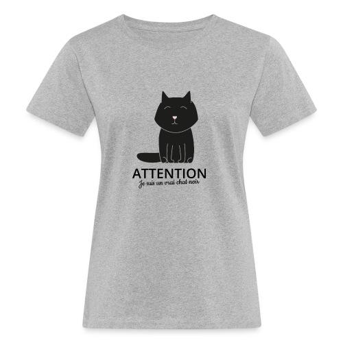 Chat noir - T-shirt bio Femme