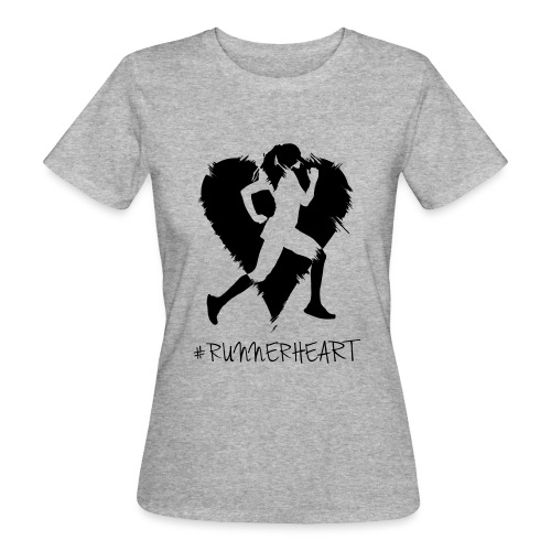#Runnerheart girl - Frauen Bio-T-Shirt