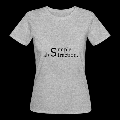 simple. abstraction. logo - Frauen Bio-T-Shirt