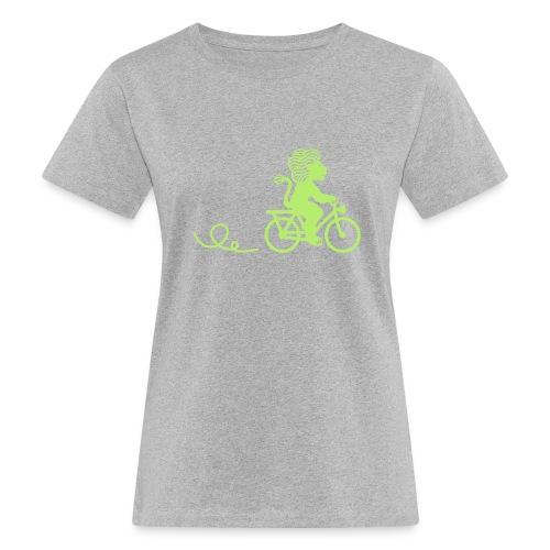 Züri-Leu beim Velofahren ohne Text - Frauen Bio-T-Shirt