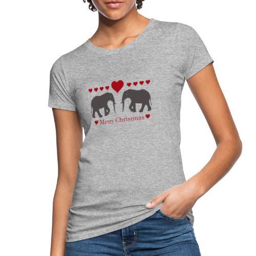 Afrika - Elefant - Weihnachten - Liebe - Frauen Bio-T-Shirt