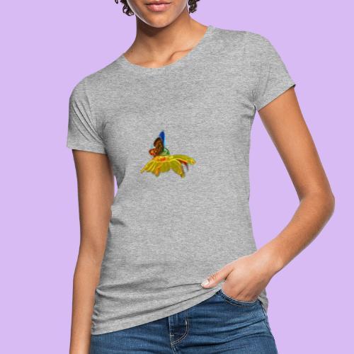 Farfalla su corolla - T-shirt ecologica da donna
