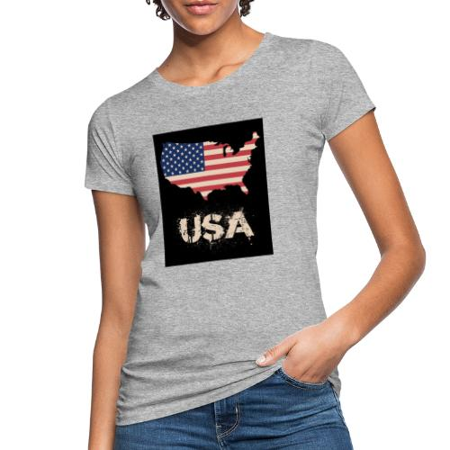 USA FLAG 4th of July With Flag - Ekologisk T-shirt dam