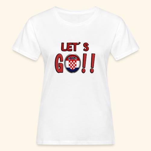 Go Croatia - T-shirt ecologica da donna