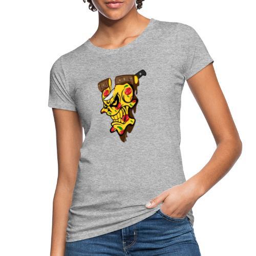 Pizza Schädel mit Messer - Frauen Bio-T-Shirt
