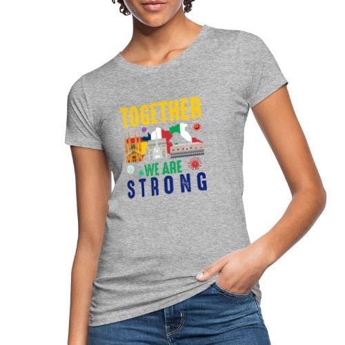 Together against Corona - Frauen Bio-T-Shirt