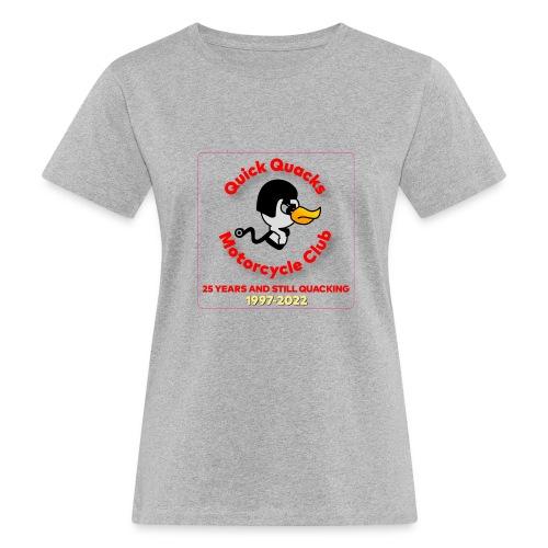 Quack logo 25 years no white square - Women's Organic T-Shirt