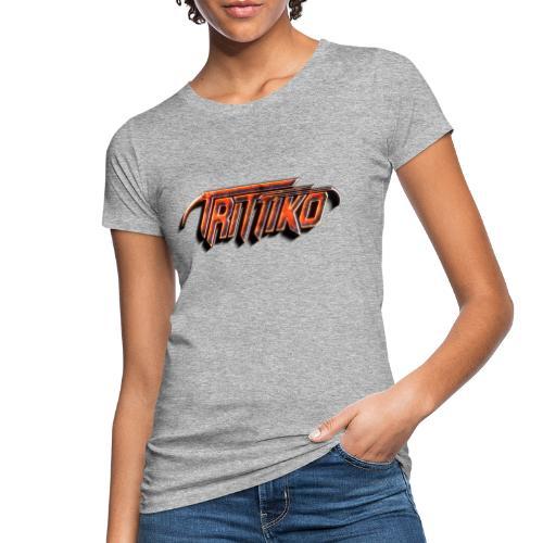 Trittiko Logo Rot 3D - Frauen Bio-T-Shirt