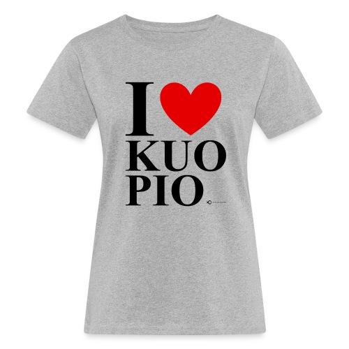 I LOVE KUOPIO ORIGINAL (musta) - Naisten luonnonmukainen t-paita