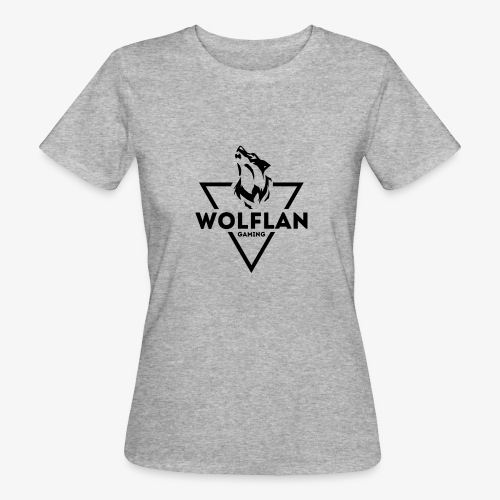 WolfLAN Gaming Logo Black - Women's Organic T-Shirt