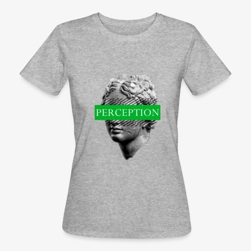 TETE GRECQ GREEN - PERCEPTION CLOTHING - T-shirt bio Femme