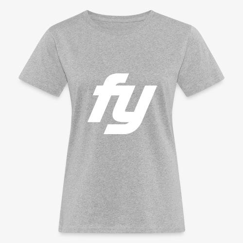 Logo Trendy Weiss - Frauen Bio-T-Shirt