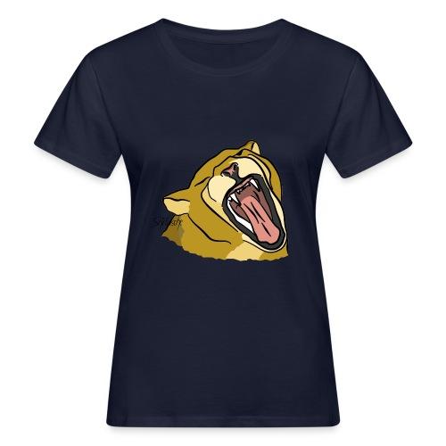 Gähnender / brüllender Löwe - Frauen Bio-T-Shirt