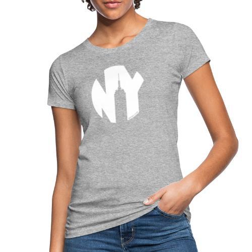 Logo French Yorker blanc - T-shirt bio Femme