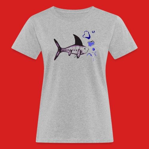 Hai-Fisch - Frauen Bio-T-Shirt