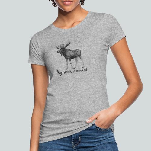 L'élan est mon animal totem - T-shirt bio Femme