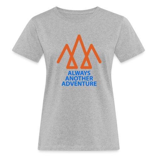 Orange logo, blue text - Women's Organic T-Shirt